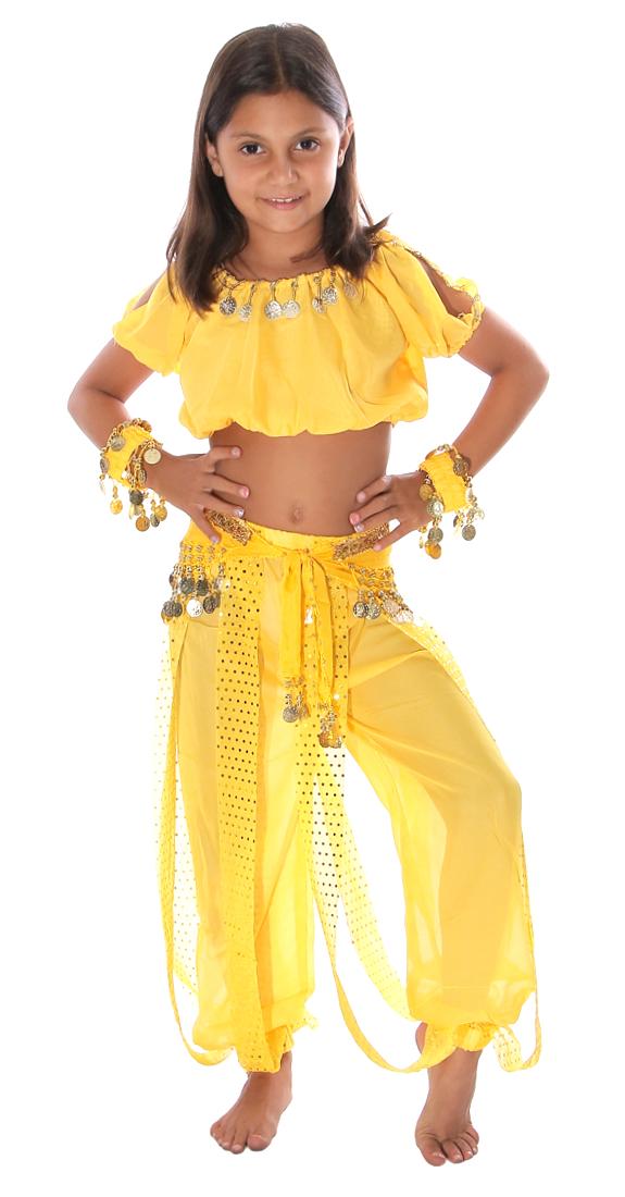 5-Piece Little Girls Arabian Princess Genie Kids Costume ... Genie Girl Costume