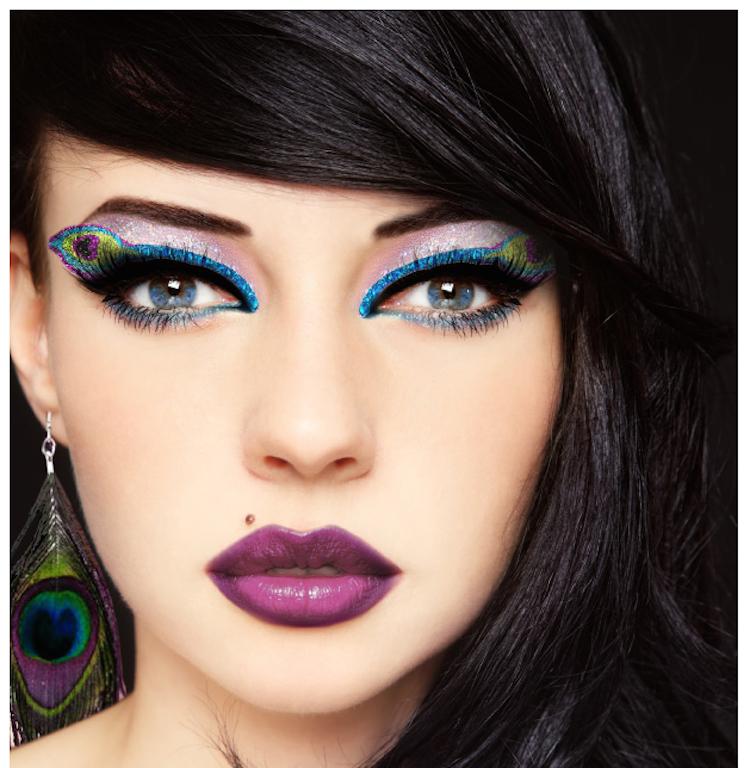 Peacock Eyes by Xotic Eyes Stage Makeup Eye Tattoos