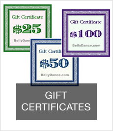 belly dance gift certificates