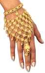 Bollywood Jingle Metal Slave Bracelet - GOLD