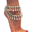 Bollywood Jingle Bell Anklet - SILVER