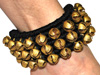 Salangai Indian Dance Ankle Bells Padded Anklets (PAIR) - BLACK