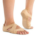 DANSHUZ Neoprene Cross Wrap Dance Shoes - LIGHT NUDE
