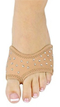 DANSHUZ Half-Shoe Neoprene Dance Shoes with Rhinestones - LIGHT NUDE