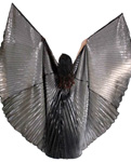 Isis Wings Belly Dance Costume Prop (Closed-Back) - HEMATITE