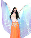 Isis Wings Belly Dance Costume Prop - GREEN / BLUE / PURPLE