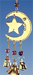 Small Celestial Moon And Star Chime with Beads