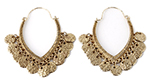 Arabesque Hoops Tribal Coin Fashion Belly Dance Earrings - ANTIQUE GOLD