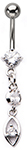 Crystal Elegance Dangling Rhinestone Barbell Belly Ring