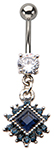 Night Queen Bejeweled Dangle Barbell Belly Ring