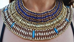 Beaded Egyptian Cleopatra Costume Collar Necklace