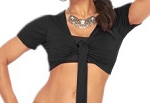 Comfy Short Sleeve Choli Dance Top - BLACK