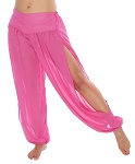 Belly Dancer Harem Pants - RASPBERRY ROSE