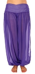 Belly Dancer Harem Pants - PURPLE GRAPE