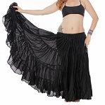 25 Yard Tribal Gypsy Skirt - BLACK