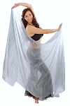 Silk Belly Dance Veil - SILVER