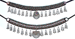 Afghani Kuchi Tribal Belt with Large Geometric Pendants- ASSORTED