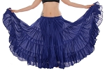 25 Yard Tribal Gypsy Skirt - ROYAL BLUE
