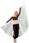 Isis Wings Belly Dance Costume Prop - WHITE OPAL