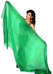Silk Belly Dance Veil - GREEN