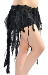 Pearls & Lace Tribal Gypsy Fringe Belt - BLACK