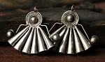 Handmade Miao Silver Tribal Belly Dance Earrings - ASMITA