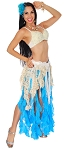 Mermaid Sea Maiden Belly Dance Ruffle Costume