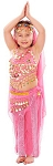 4-Piece Arabian Princess Girls Belly Dancer Bollywood Costume - PINK