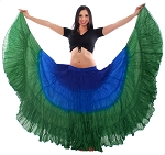 25 Yard Tribal Gypsy Belly Dance Skirt - BLUE / TURQUOISE / GREEN