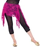 Lace Tribal Fusion Overskirt - FUCHSIA