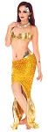 2-Piece Sexy Metallic Sequin Mermaid Costume - GOLDEN