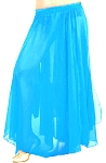 Kids Size Chiffon Belly Dance Costume Skirt - TURQUOISE