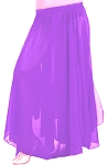 Kids Size Chiffon Belly Dance Costume Skirt - PURPLE