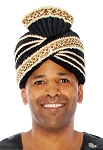 Prince of Persia Royal Velvet Turban - BLACK / GOLD