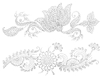 SILVER HENNA Custom Metallic Temporary Flash Tattoos - LOTUS