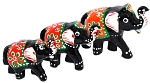3-Piece Ornamental Elephants Figurine Set
