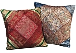 Vintage Silk Cushion or Pillow Cover -  Assorted Colors