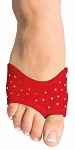 DANSHUZ Half-Shoe Neoprene Dance Shoes with Rhinestones - RED / SMALL