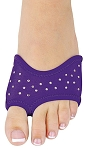 DANSHUZ Half-Shoe Neoprene Dance Shoes with Rhinestones - PURPLE / SMALL