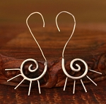Handmade Miao Silver Native Tribal Earrings - SOLARIS SPIRALS