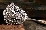 Handmade Miao Silver Ornate Embossed Hairpin - VIENNA