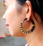Wood & Brass Faux Gauge Earrings by Coco Loco - ISIS HOOPS