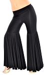 Mermaid Style Super Bell Bottom Fusion Dance Pants - BLACK