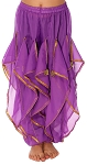 KIDS Endless Wave Bollywood Ruffle Harem Pants - PURPLE