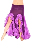 Trumpet Mermaid Skirt with Ruffles & Slits - 2-Tone Purple