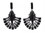 Midnight Deco Hematite Sparkle Earrings