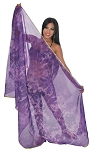 3 Yard Chiffon Tie-Dye Semi-Circle Belly Dancing Veil - PURPLE