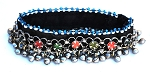 Afghani Tribal Jewelry Anklet with Colorful Glass Rounds and Metal Bells