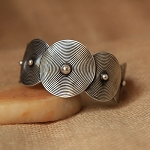 Handmade Miao Silver Kuchi Tribal Belly Dance Jewerly Spiral Cuff Bracelet