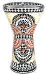 Doumbek/Tabla (Egyptian Drum) with Mother of Pearl Mosaic Inlays - SUNBURST